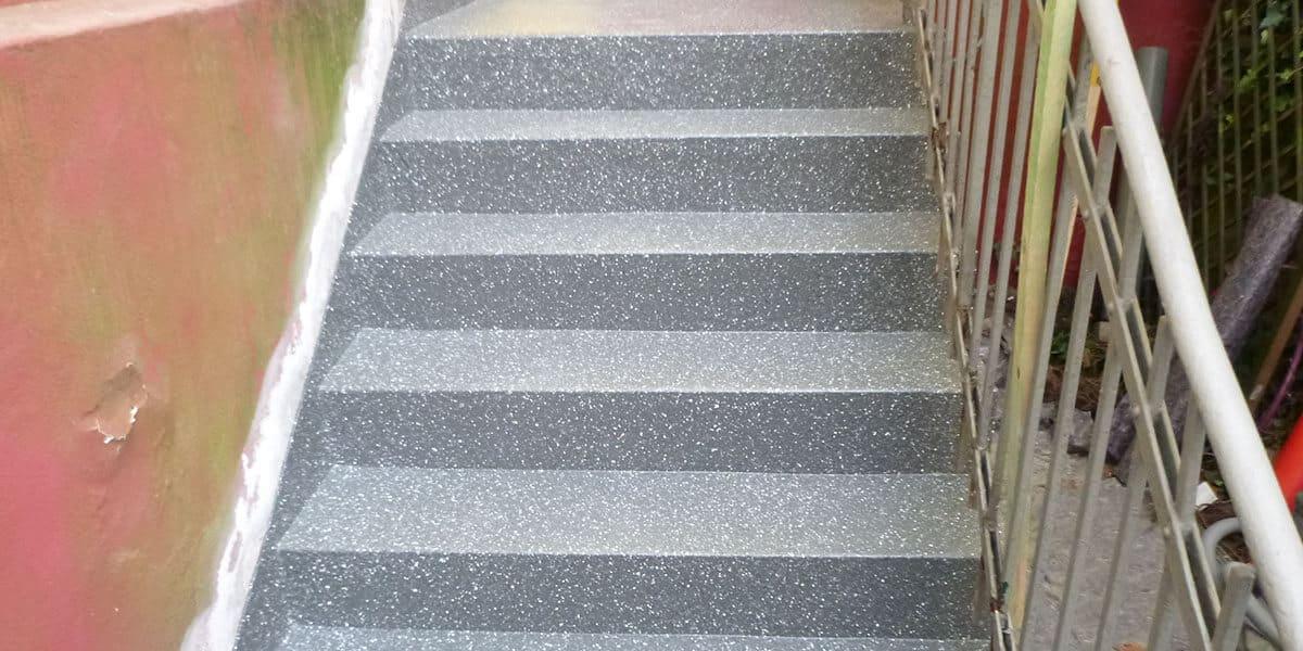 Treppe versiegelt