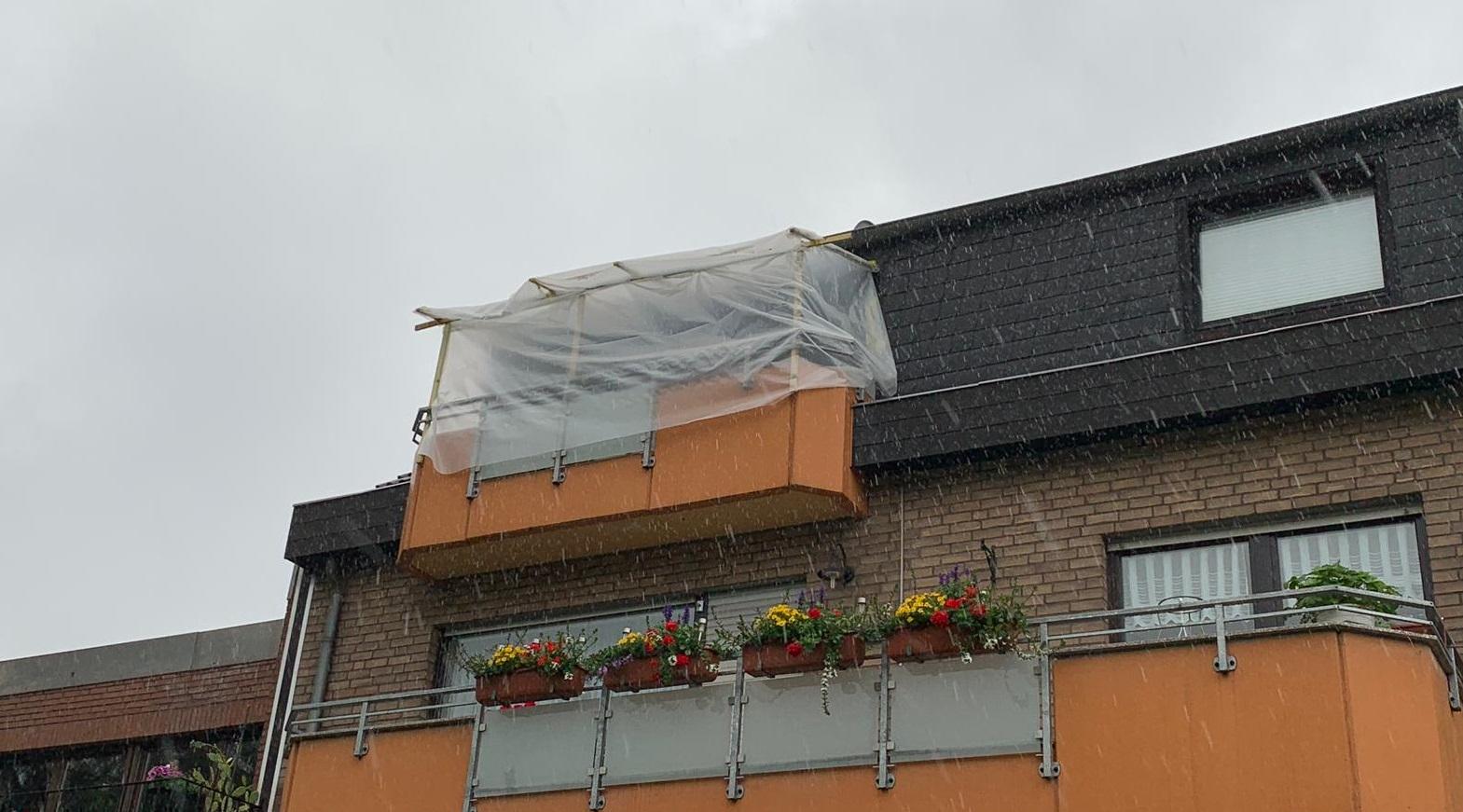 Balkonsanierung bei Wind und Wetter!