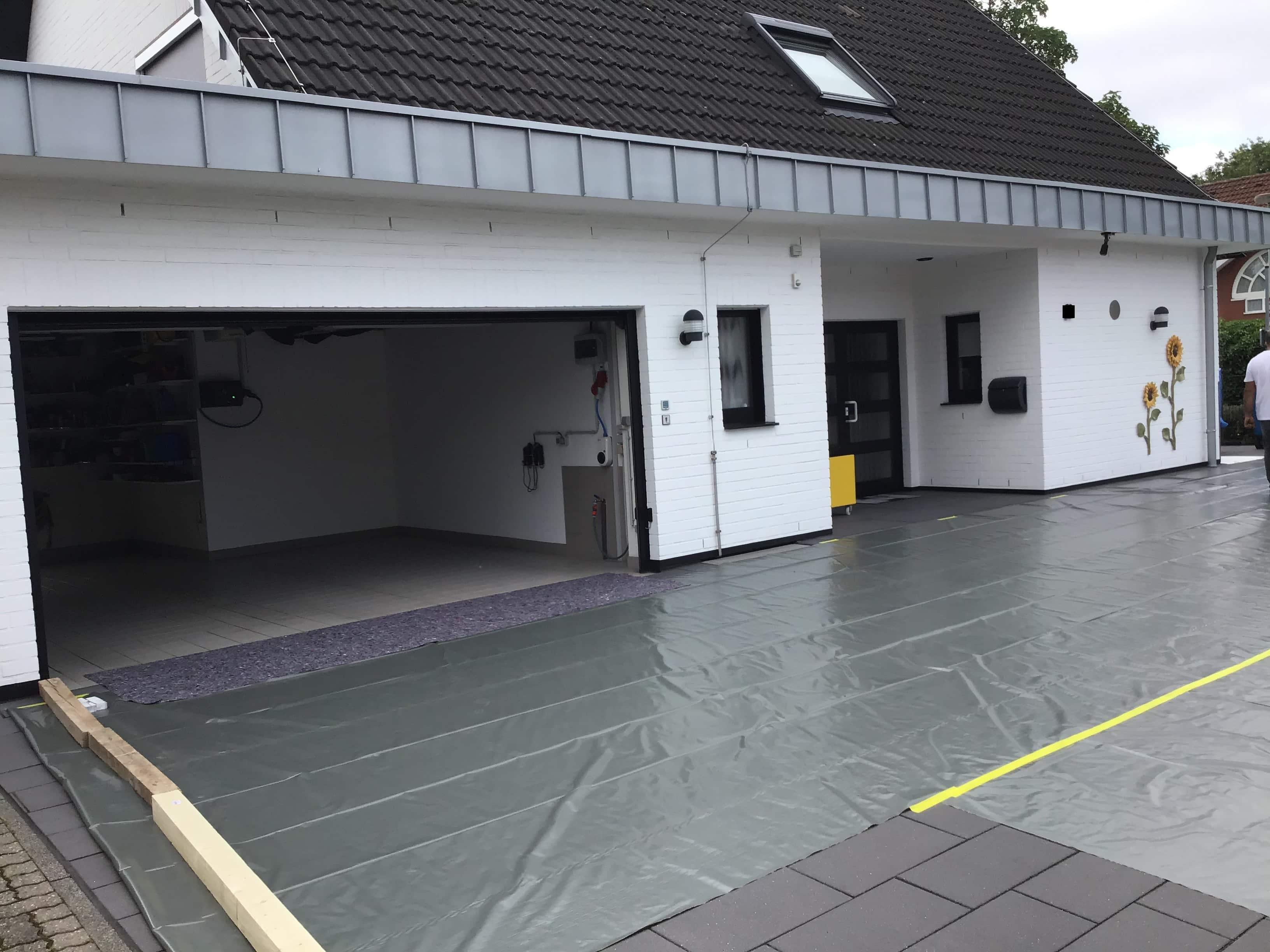 Garagenbeschichtung in Krefeld – Sanierung mit Flüssigkunststoff