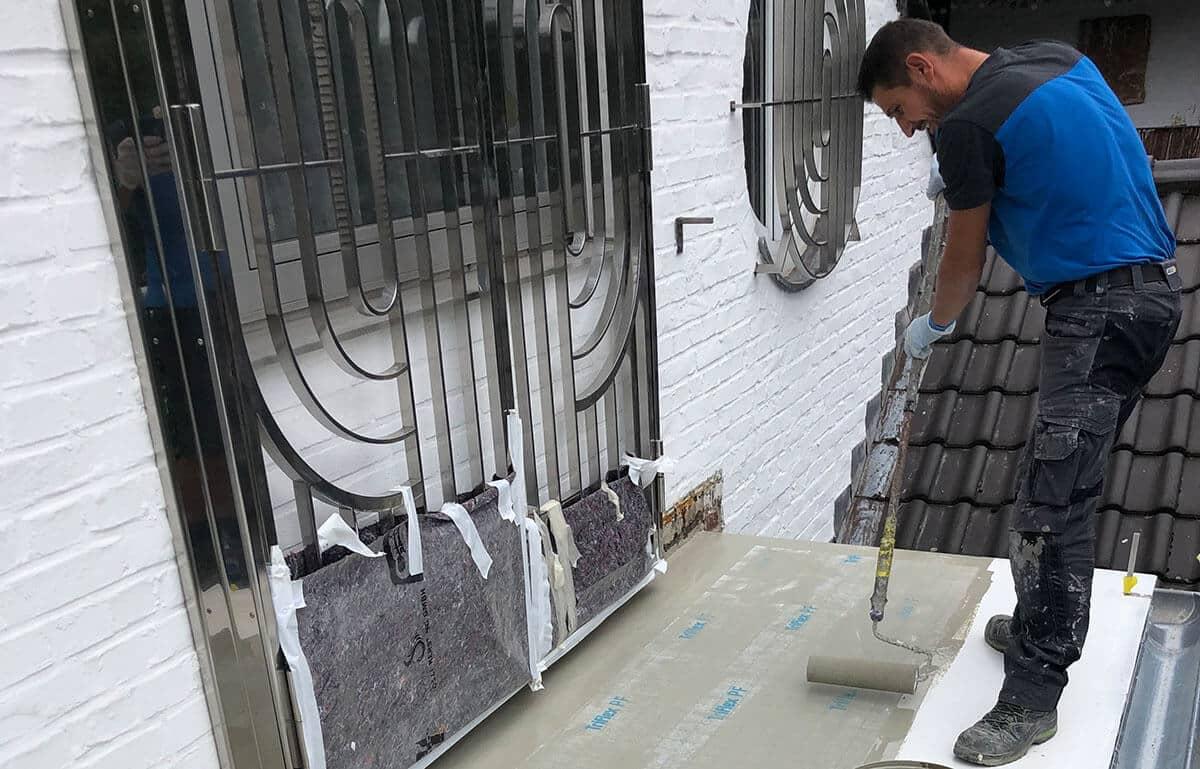 Balkonsanierung in Düsseldorf – Estrich aus Zementfaserplatten