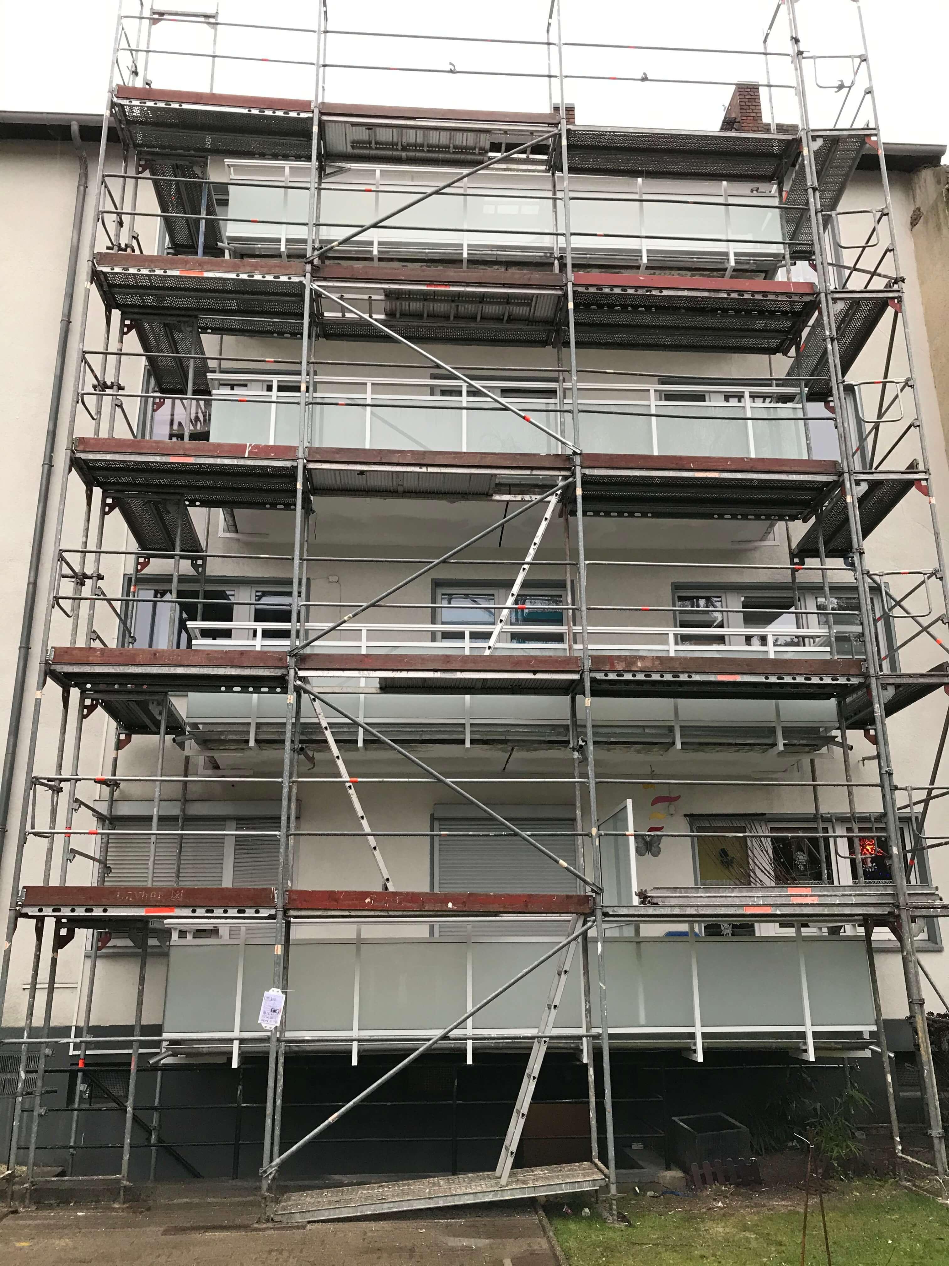 Große Balkonsanierung in Moers - Beschichtungen NRW